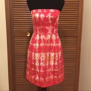 Tabitha strapless embroidered dress 2